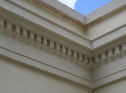 External Fibrocem Dentil Frieze