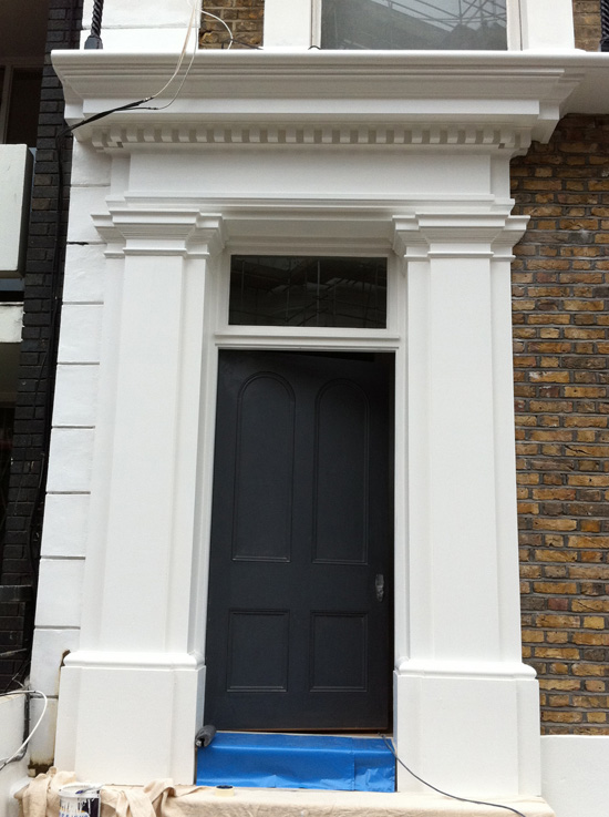 External Jesmonite Door Pediment & Pilasters
