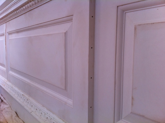 Panelled Wall Section